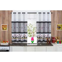 Cortina / Cozinha 2,00 X 1,50 Tecido Oxford Compre Agora