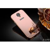 Funda Bumper-aluminio Espejo Samsung Galaxy S4 +mica Cristal