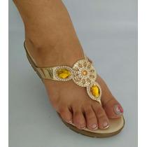 Coleccion Sandalia Dorada De Mujer Calzado Moda Envio Gratis