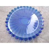 Centro Plato Fuente Bandeja Azul Cobalto Tipo Murano