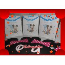 Bolsitas Souvenirs Personalizados Impresas Mickey Minie Bebe