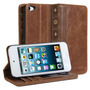 Ipod Touch 5 E 6 - Carteira Capa Case Protetor Livro Marrom