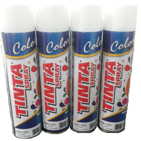 Kit 10 Latas Tinta Spray Branco Brilhante Sec. Rapida 400ml!