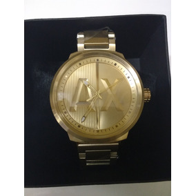 Relogio Armani Exchange Ax1363 Original Prova Dágua Gold