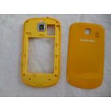 Tampa E Carcaça Traseira Samsung Corby2 S3850 Cor Amarelo