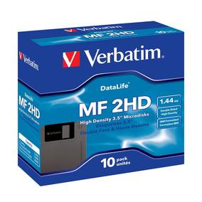 Diskette Verbatim 3,5 Hd En Caja Cerrada X 10 Unidades