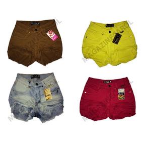 Short Jeans Cintura Alta Kit C/ 10 Peças Atacado Revenda