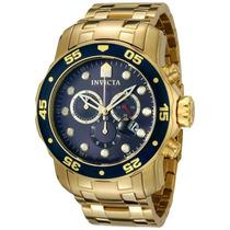 Lindo Relógio Invicta Pro Diver Scuba 0073 -banhado Ouro Iv6