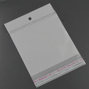 Saquinho Adesivo Transparente 20x15 - Pacote Com 200 C/furo