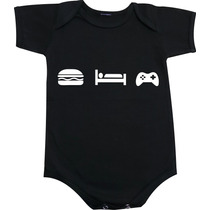 Eat Sleep Play - Body Camiseta E Baby Look Engraçados