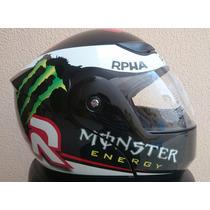 Capacete Monster Energy Rpha Jorge Lorenzo Premium Robocop