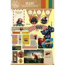 Kit Imprimible Personalizado Valiente Deco Y Candy Bar !