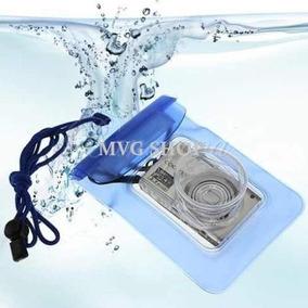 Bolsa Estanque Azul P/ Câmera Digital Mp3 Telef. Prova Dágua