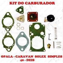 Kit Reparo Carburador Opala/caravan Solex Simples 40 Deis