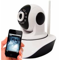 Câmera Ip Wifi Sem Fio Gravação Cartão Iphone Android P2p Up
