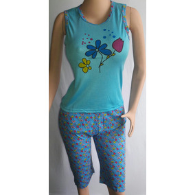 Pijamas Para Dama En Conjunto De Algodon Al Mayor Y Detal