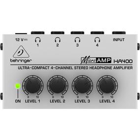 Amplificador De Auriculares Estéreo Behringer Ha400