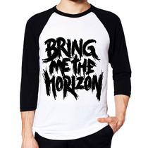 Camiseta Bring Me The Horizon Raglan 3/4 Pronta Entrega