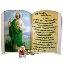 Recuerdo De San Judas Tadeo En Madera