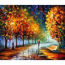 Fall Marathon - Pintura Al Oleo Del Maestro Leonid Afremov