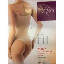 Body Modelador Y Reductor Colales Bretel Fino De Raso Mora