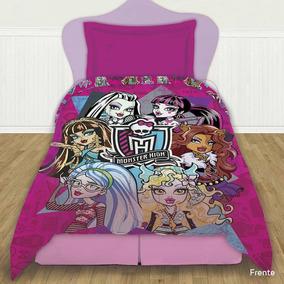 Sabanas Disney Piñata 1 Plaza Y Media Diseño Monster High
