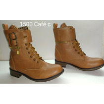 Bota Militar 1500 Cafe Bajo Tipo H&m Bershka Pull And Bear