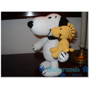 Snoopy + Woodstock Desmontable En Crochet. Novedad!!