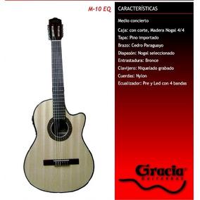 Guitarra Eléctrocriolla Gracia Modelo M10eq Con Funda