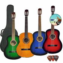 Guitarra Criolla + Funda+curso En Dvd+afinador+pua+garantia