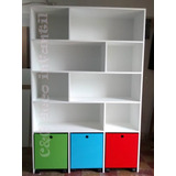 Mueble Organizador C/ Cubos C/ Ruedas Estante Baules