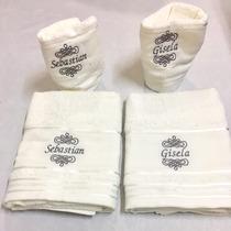 Juego Toalla/toallon Bordado Personalizado Ideal Souvenir