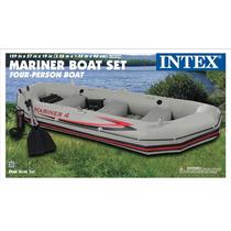 Nueva Intex Mariner 4 Lancha Bote Inflable 2013 + Base Motor