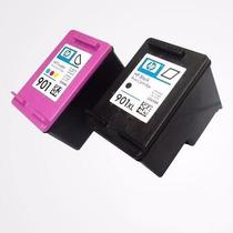 Kit Cartuchos Hp 901xl Preto + 901 Color Vazios