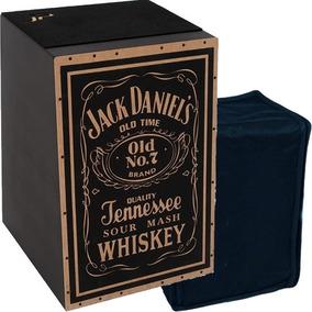 Cajon Inclinado Acústico C/ Capa Bag Modelo Jack Daniel