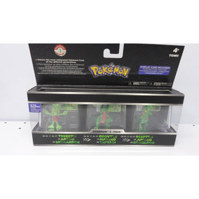 Pokemon Boneco Treecko, Grovyle E Sceptile Pack 3 - Tomy C