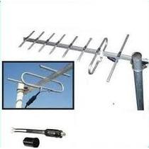 Antena Tv Digital Hd Publica Tda + 15 Mt Cable Rg6 C/conec.