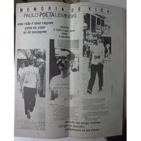 (jornal) Paulo Leminski - Memória De Vida - 1989