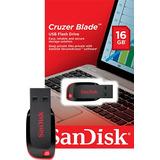Pen Drive 16g Sandisk 100% Original Lacrado E Com Garantia