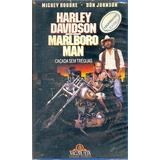 Filme Fita Vhs Harley Davidson Marlboro Man Cacada Sem Tregu