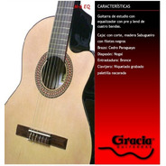 Guitarra  Nylon Gracia Modelo M6eq C/ Funda