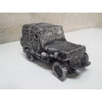 Jeep Miniatura Artesanal Em Resina