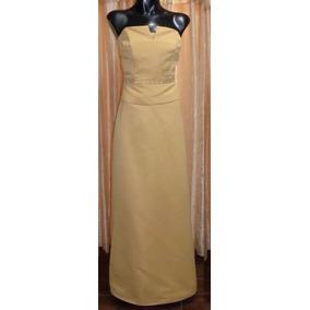 Lilasori Vestido De Fiesta Marca Importado Talla 5 Ocre