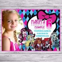 Kit Imprimible Monster High Candy Bar Invitaciones Cotillón