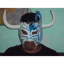 Mascara De Luchador Rush El Toro Blanco Mistico Y Dragon Lee