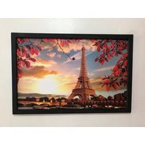 Cuadro Decorativo Paris Torre Eiffel En Otoño