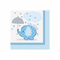 48 Servilletas De Papel 33 X 33 Cms. Baby Shower Azul