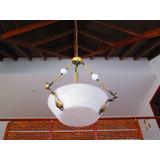 Elegante Y Moderna Lámpara En Alabastro Y Bronce
