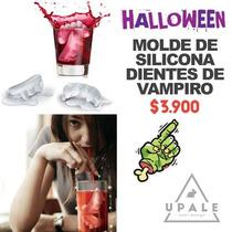 Molde De Silicona Dientes De Vampiro Halloween