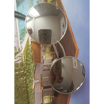 Óculos Sol Redondo Roundy Prata Lente Espelhada + Saquinho